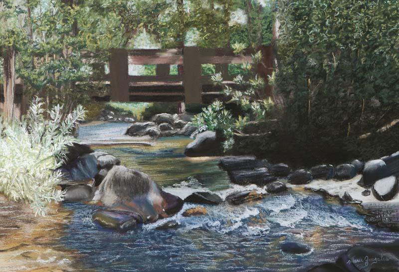 Gentle Flow, Taylor Creek, S. Lake Tahoe by Marie Gonzales - KVIE 2020