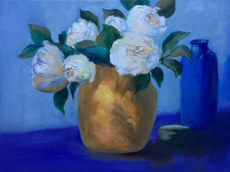 Staying ConnectedFlowers in vase by Lori Bernardo