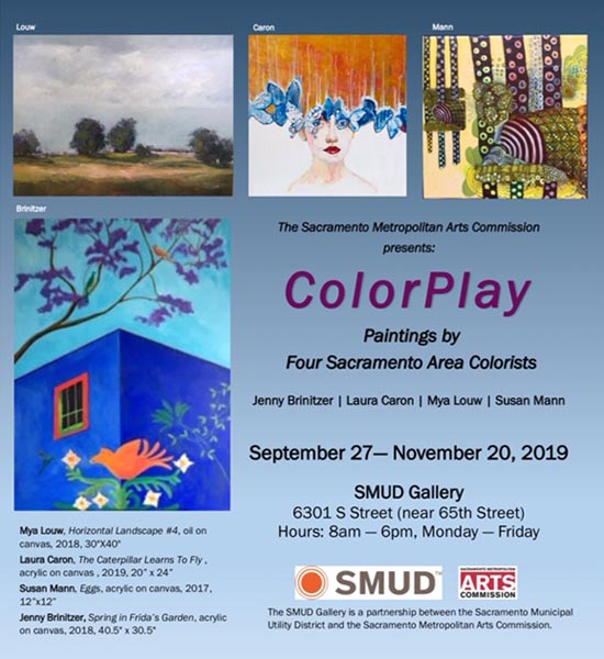 Jenny Brinitzer - Color Play - Paintings by Four Sac Area Colorists