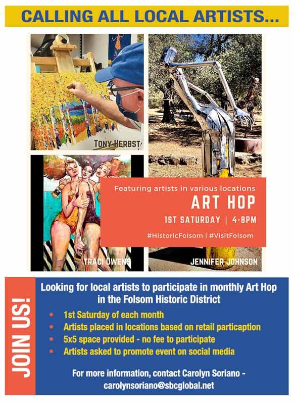 Folsom Historic District ART HOP 2021