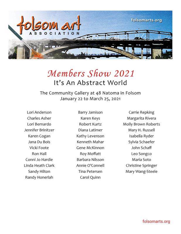 It's an Abstract World 2021 - Folsom Arts Association - Gallery at 48 Natoma