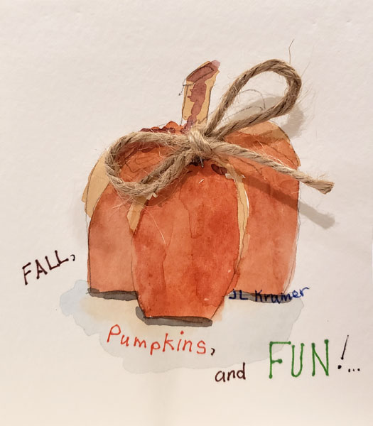 Fall Pumpkins and Fun - greeting cards by Joyce Kramer