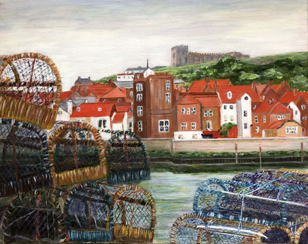 Whitby Harbor by Diana Latimer