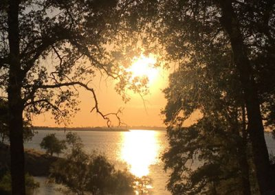 Cell Phone Photography * 1st Place * Folsom Lake Sunset by Jin Lee