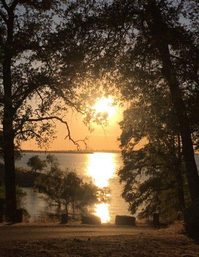 Folsom Lake Sunset by Jin lee