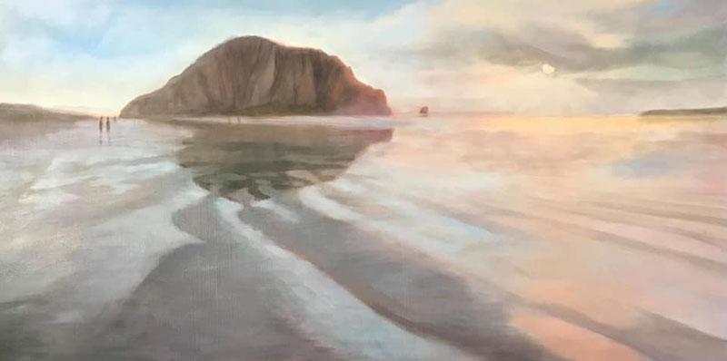 Morro Bay Rock Beach by Kathlee Levenson