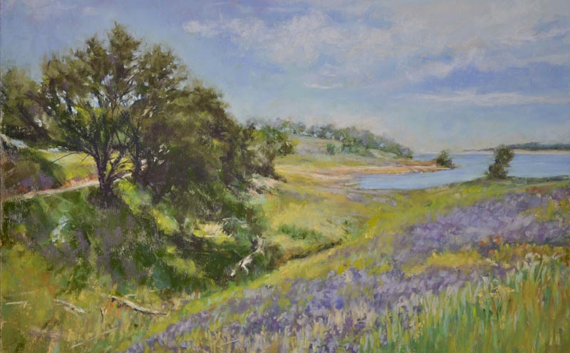 Spring greens and lush lavenders by Mary Russell