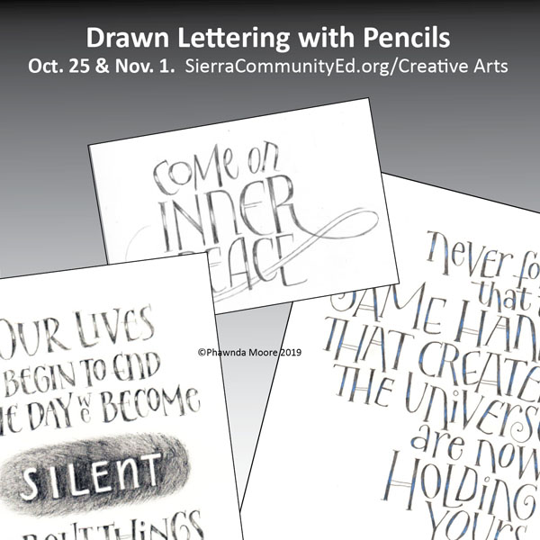 Drawn Lettering with Pencils by Phawnda Moore